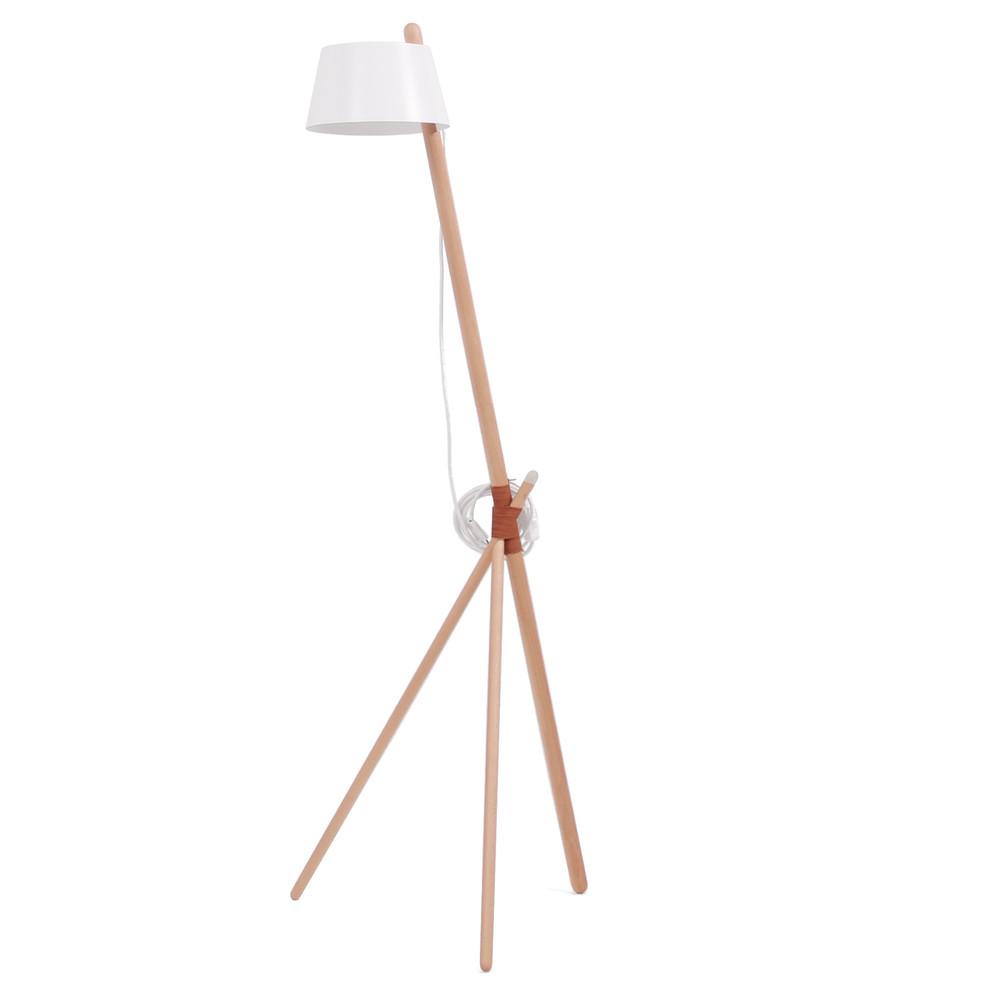 Biela voľne stojacia lampa Woodendot Ka Medium