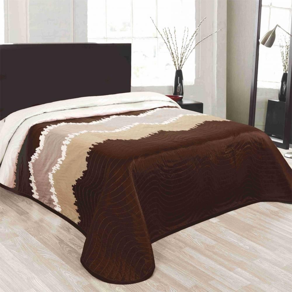 Forbyt Prehoz na posteľ Celiné hnedá, 140 x 220 cm