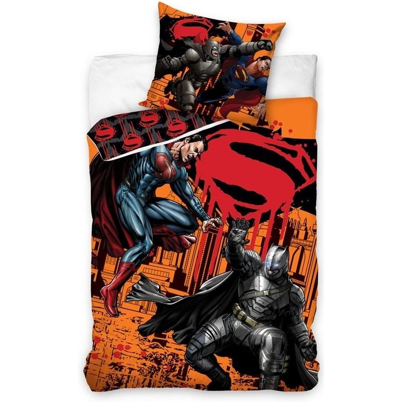 CARBOTEX Obliečky Batman vs Superman bavlna 140/200, 70/90 cm