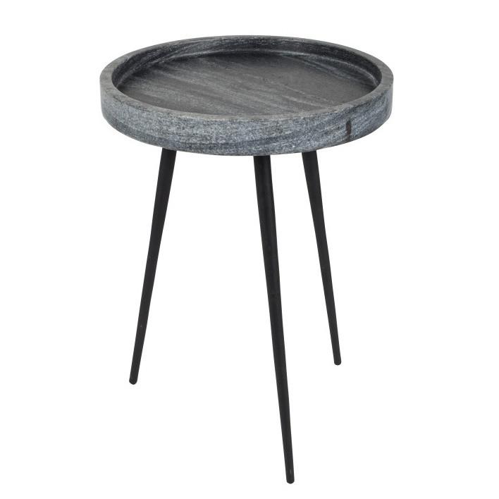 Sivý odkladací stolík Zuiver Karrara