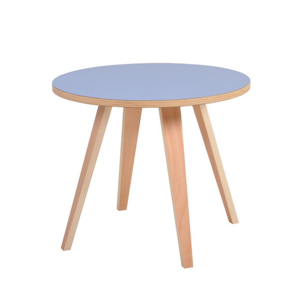 Modrý okrúhly konferenčný stolík Garageeight Arvika