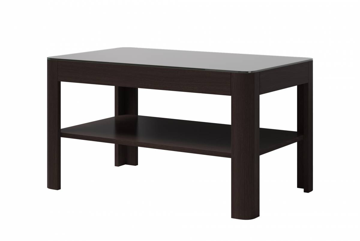 Konferenčný stolík Typ 99 (wenge + čierne sklo)