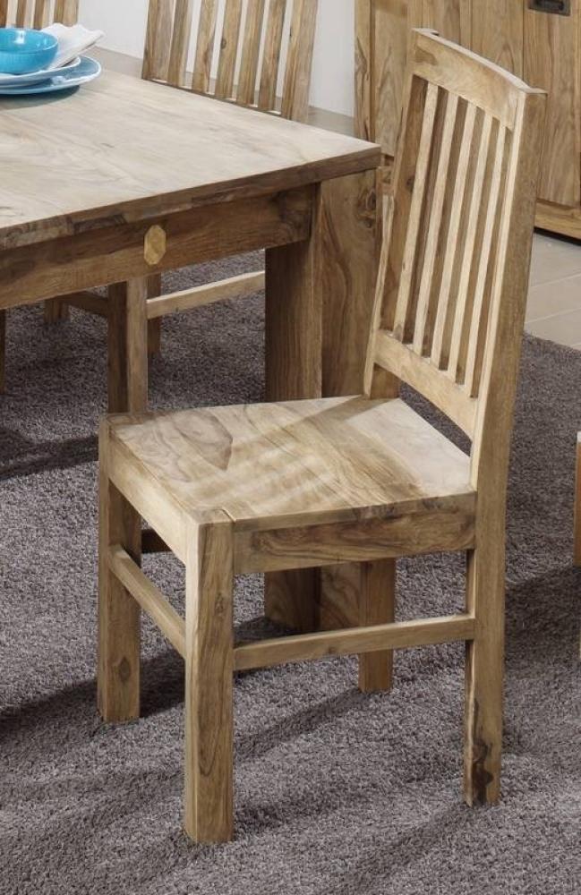 NATURE BROWN #81 Sheesham stolička, masívne palisandrové drevo