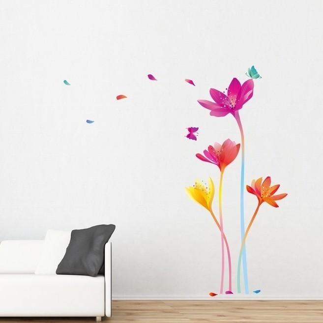 Samolepka Ambiance Rainbow Flowers