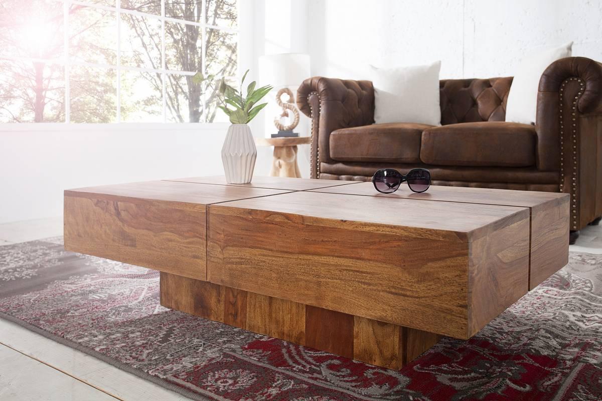 Konferenčný stolík BELT, 110 cm - prírodná