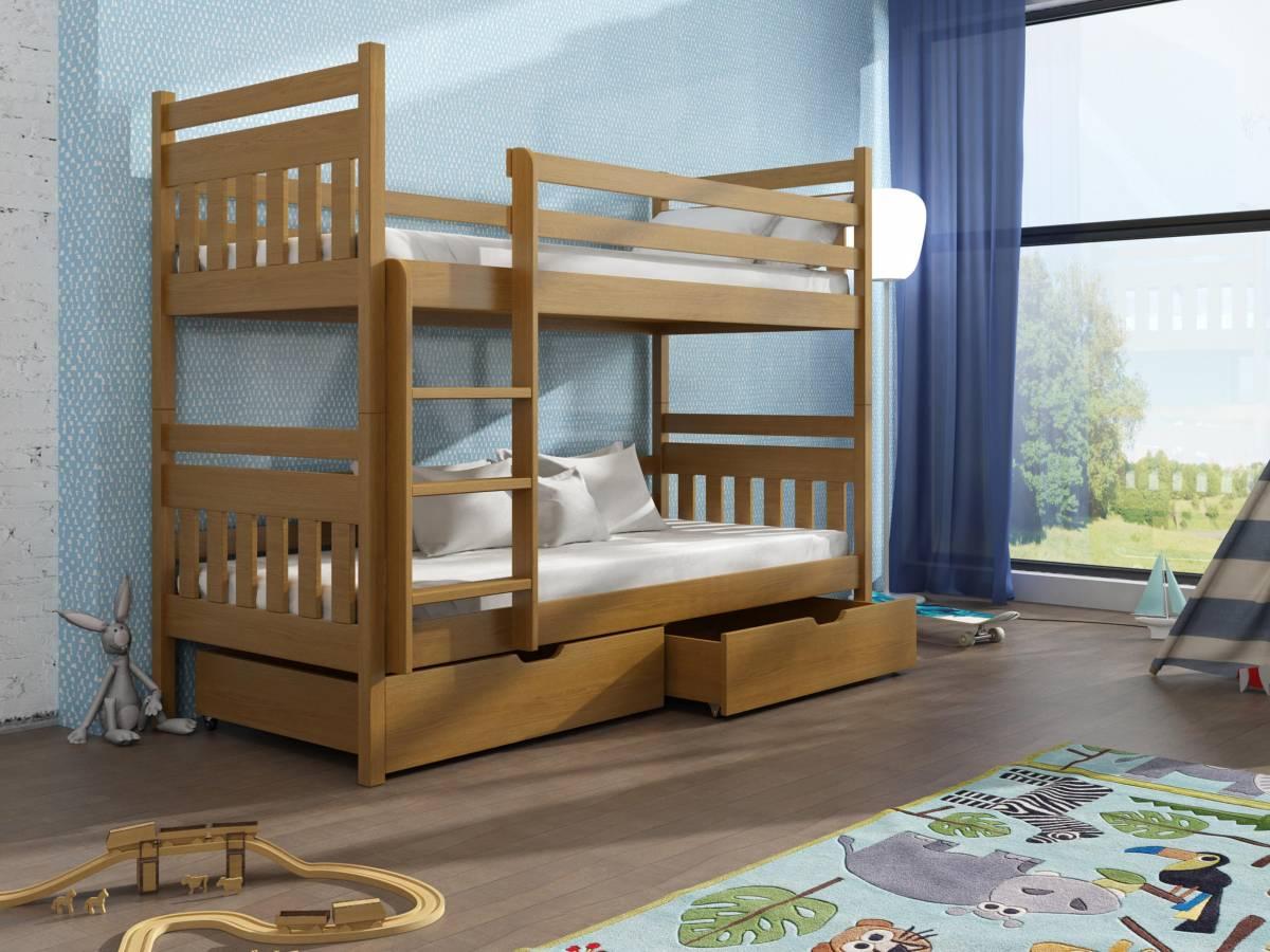 Detská poschodová posteľ 90 cm