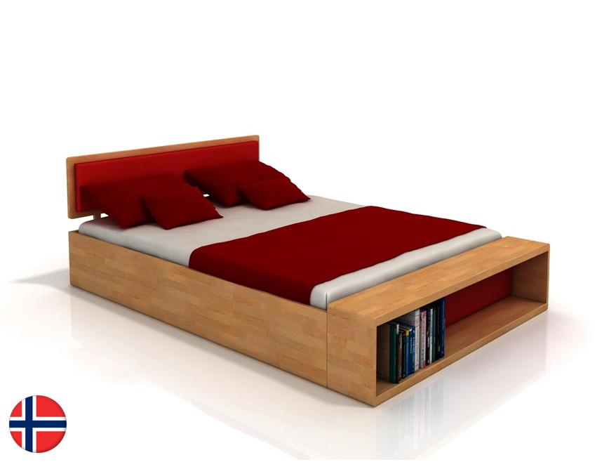 Manželská posteľ 200 cm Naturlig Invik (buk) (s roštom)