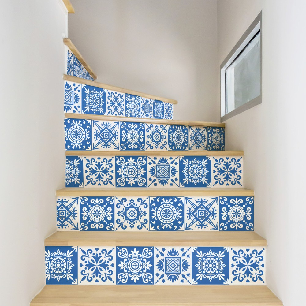 Sada 2 samolepiek na schody Ambiance Ambra, 15×105 cm