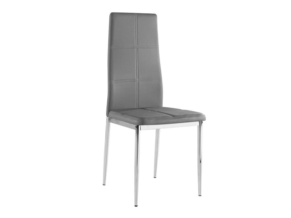 Jedálenská stolička Lera (tmavosivá + chróm)