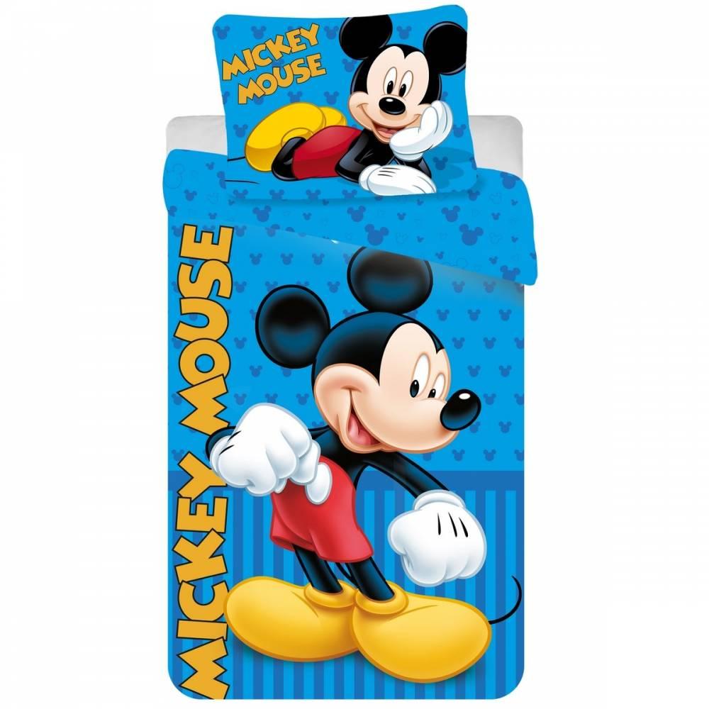 Jerry Fabrics detské bavlnené obliečky Mickey blue 2016 140x200 70x90