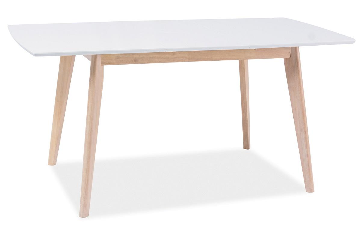 KOMBO II rozkladací jedálenský stôl, dub bielený/biely