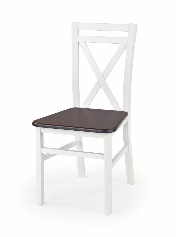 Jedálenská stolička Dariusz 2 (biela + tmavý orech)