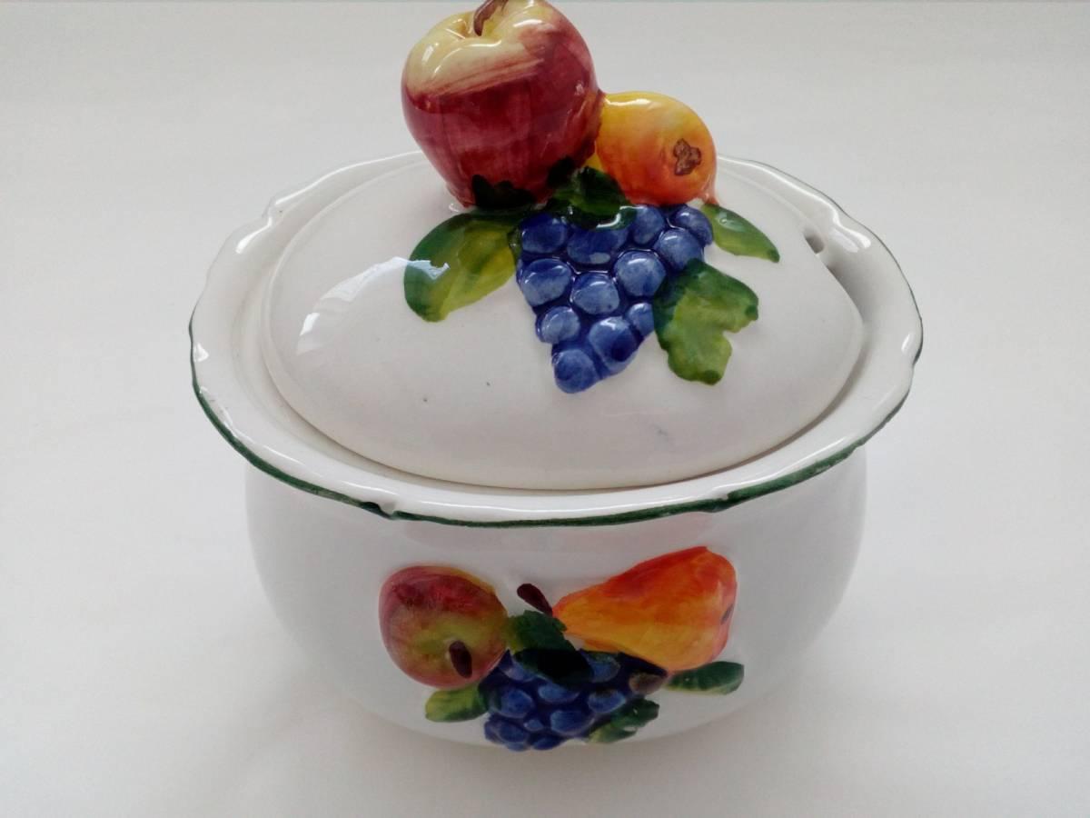 Keramická cukornička s ovocím BR
