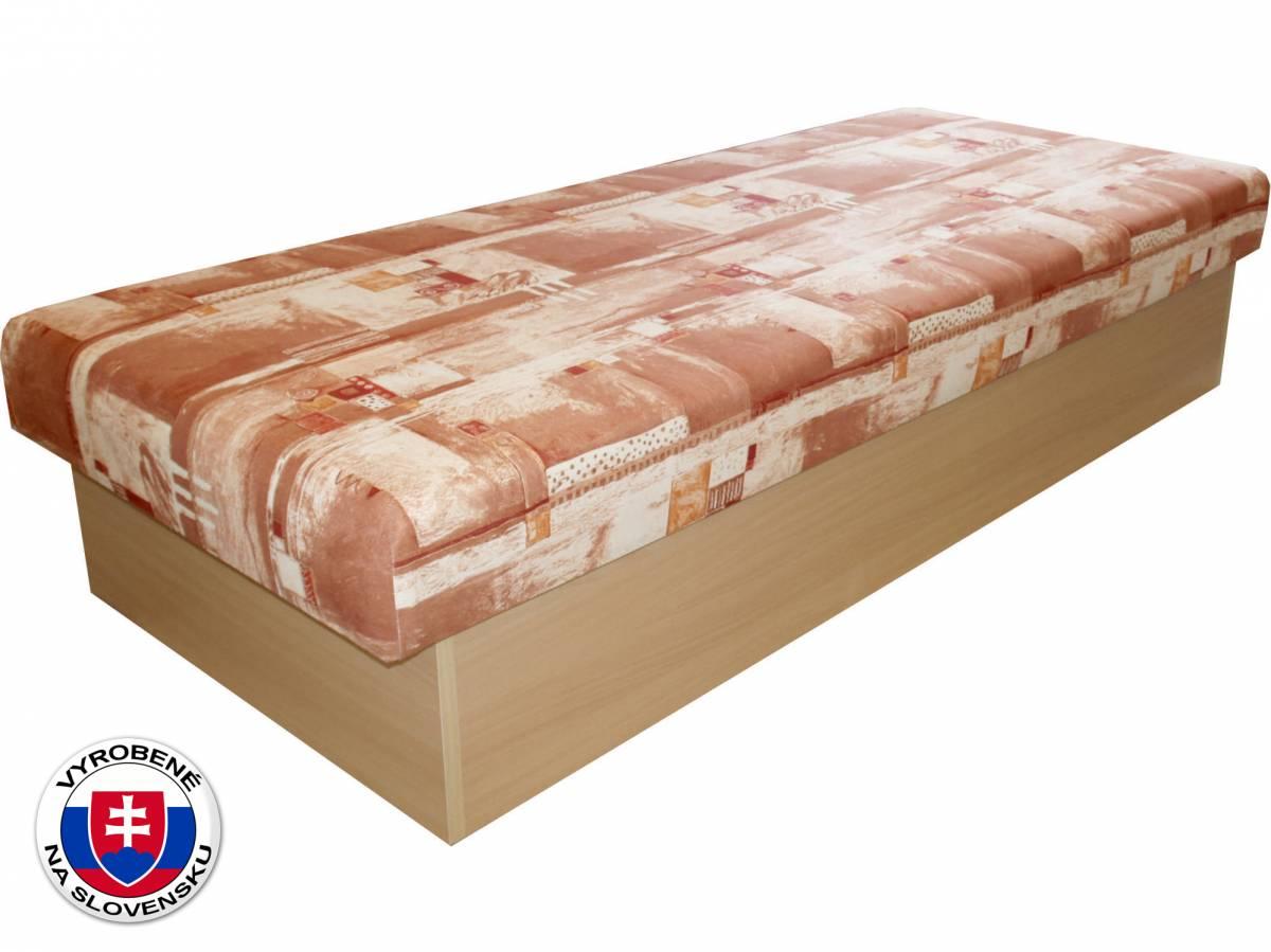 Jednolôžková posteľ (váľanda) 80 cm Benab Roger (čajka hnedá) (s matracom)