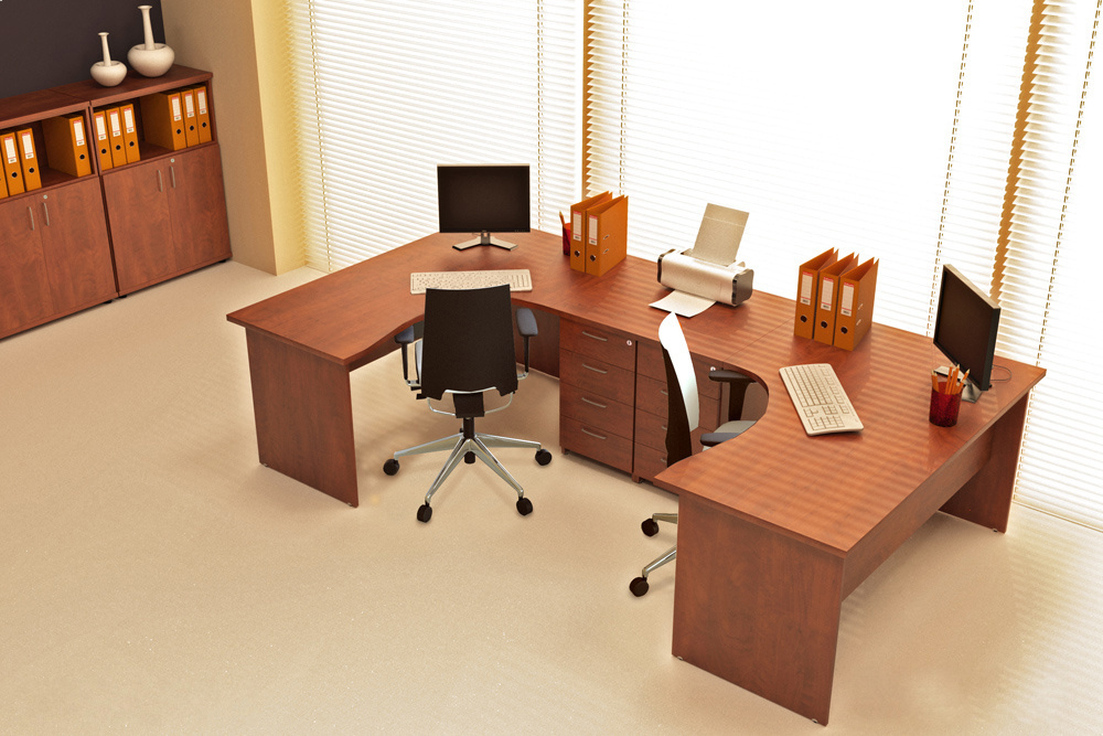 Rauman Zostava kancelárskeho nábytku Visio 7 calvados R111007 03