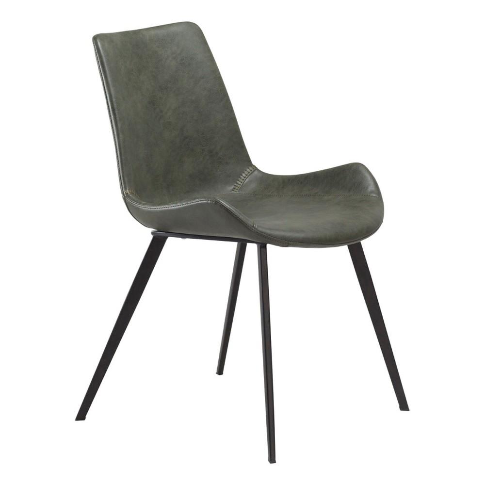 Zelená jedálenská stolička DAN–FORM Hype Faux