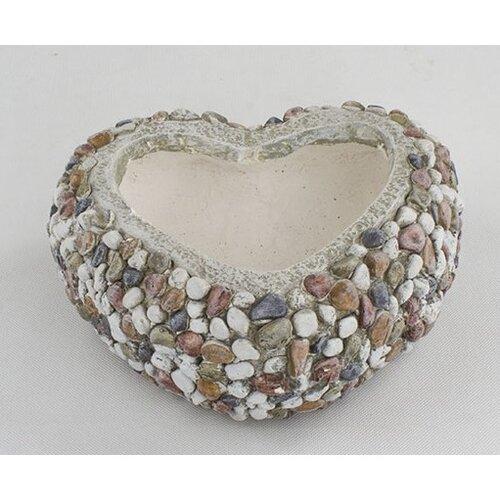 Obal na kvetináč Srdce s kamienkami, 29 x 12 x 27 cm