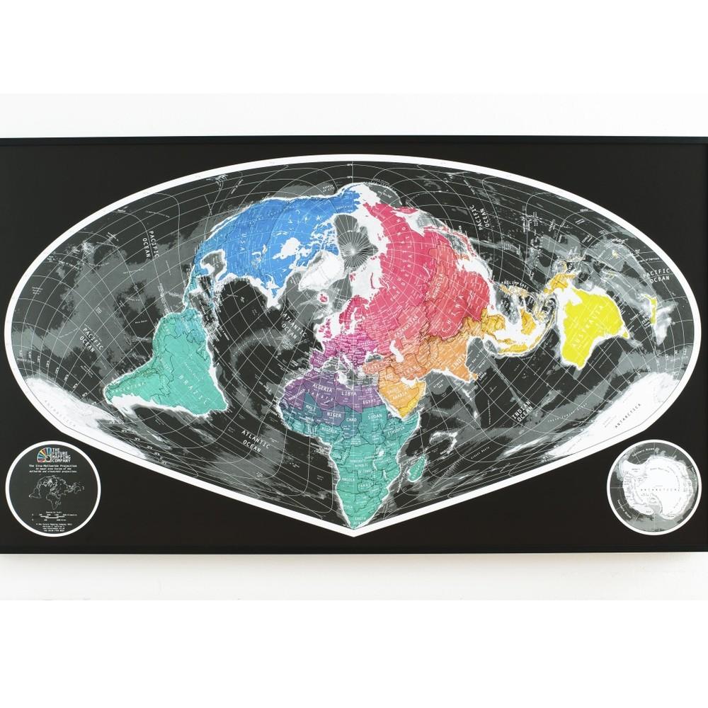 Širokouhlá mapa Future Map, 101x58cm