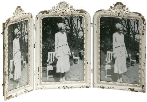 Set 3 ks fotorámikov BUCKY - antická biela