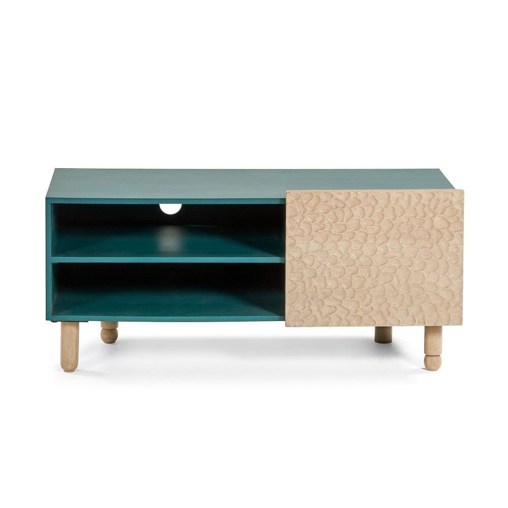 Zelený TV stolík z mangového dreva La Forma Saks