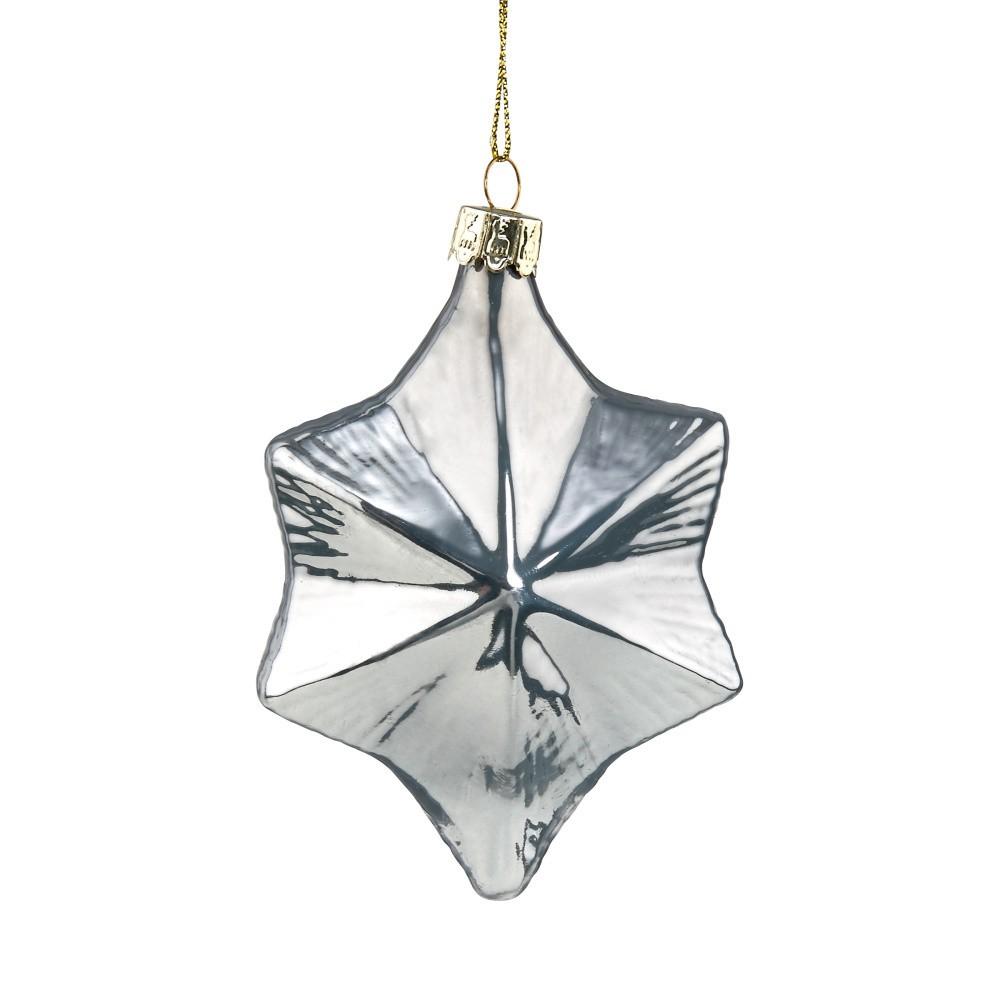 Vianočná závesná ozdoba zo skla Butlers Hviezda, ⌀ 10 cm