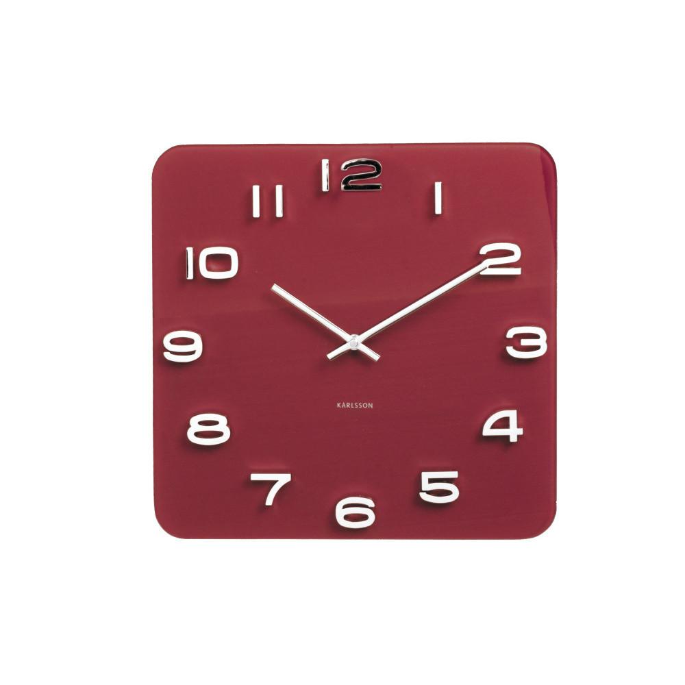 Červené hodiny Present Time Burgundy