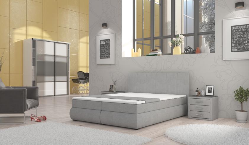 RIMINI manželská posteľ 180, Bonn 90