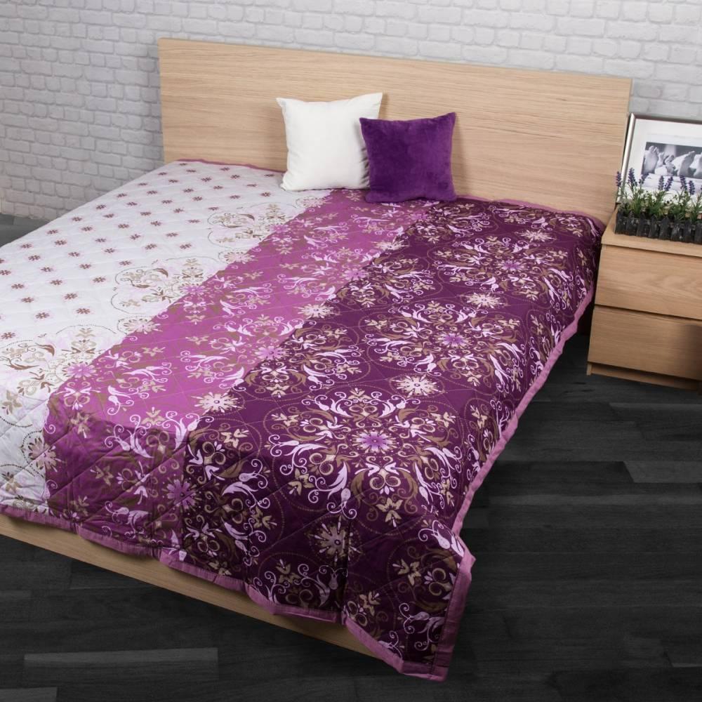 Prehoz na posteľ Alberica fialová, 160 x 220 cm