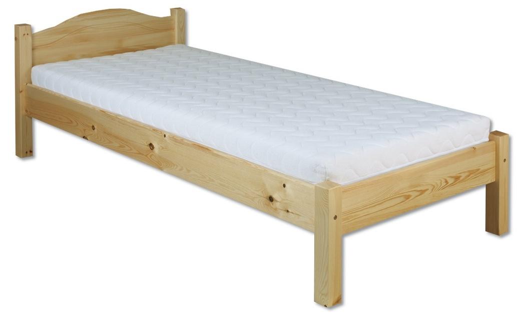 Jednolôžková posteľ 80 cm LK 124 (masív)