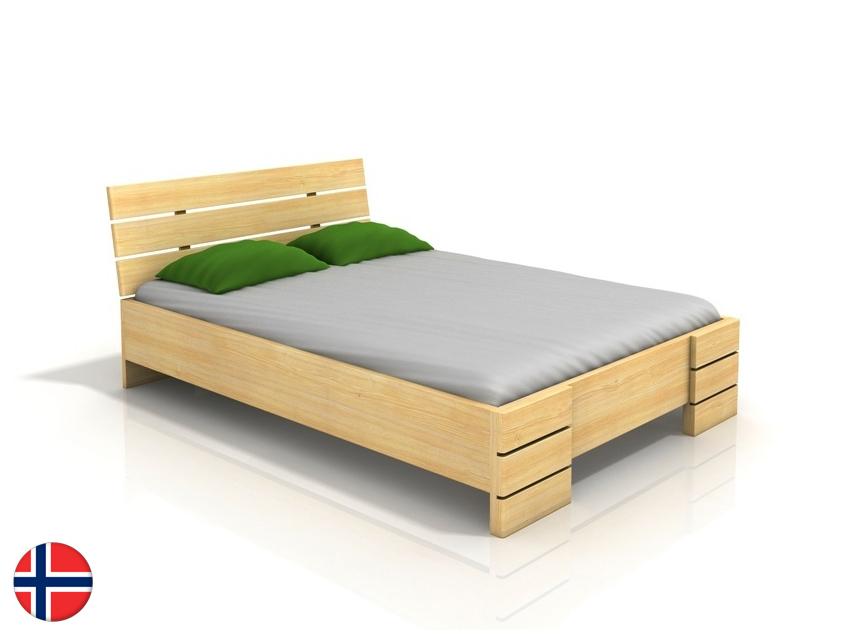 Manželská posteľ 180 cm Naturlig Lorenskog High (borovica) (s roštom)