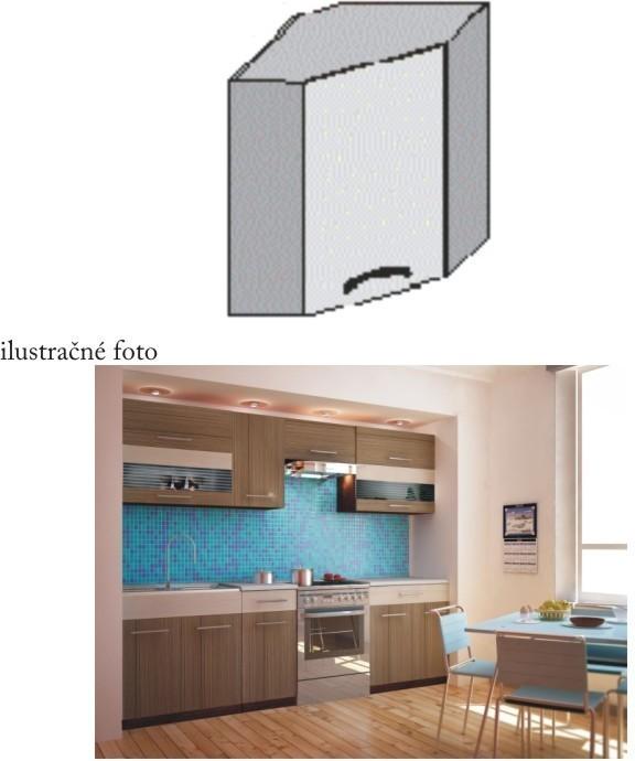 Kuchynská skrinka rohová, rigoleto dark, JURA NEW I GN-58*58