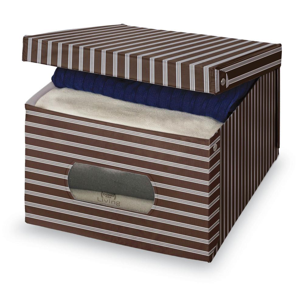 Hnedo-sivý úložný box Domopak Living, veľký