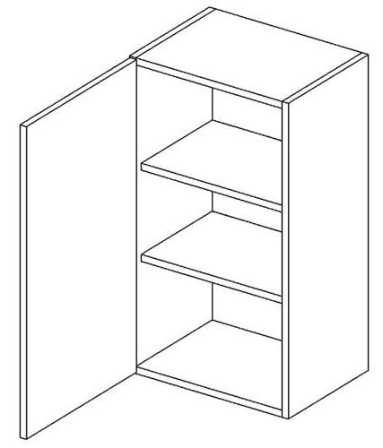 >> W40 horná skrinka 1-dverová vhodná ku kuchyni DARK, LATTE
