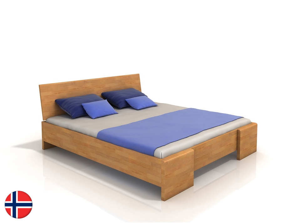 Manželská posteľ 200 cm Naturlig Blomst High BC (buk) (s roštom)
