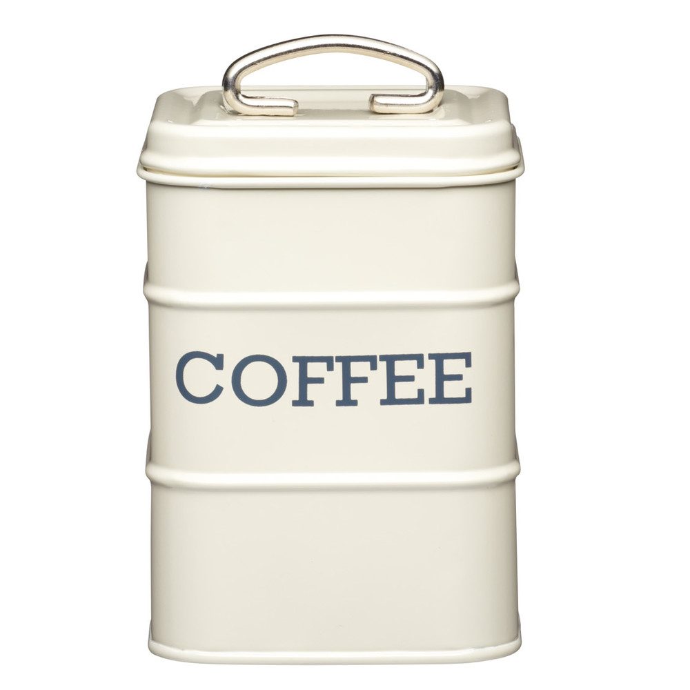 Krémová plechová dóza Kitchencraft Coffee
