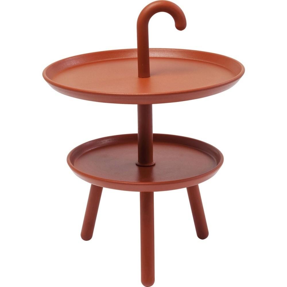 Oranžový odkladací stolík vhodný do exteriéru Kare Design Jacky