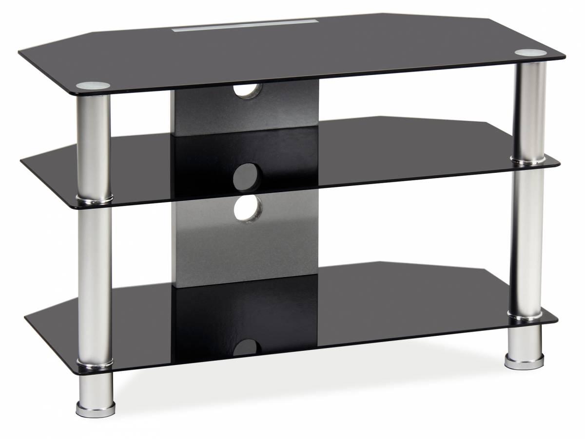 TV stolík TV-031 (čierne sklo)