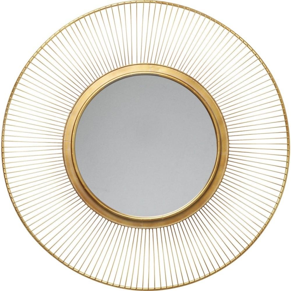 Nástenné zrkadlo Kare Design Sun Storm, Ø93 cm