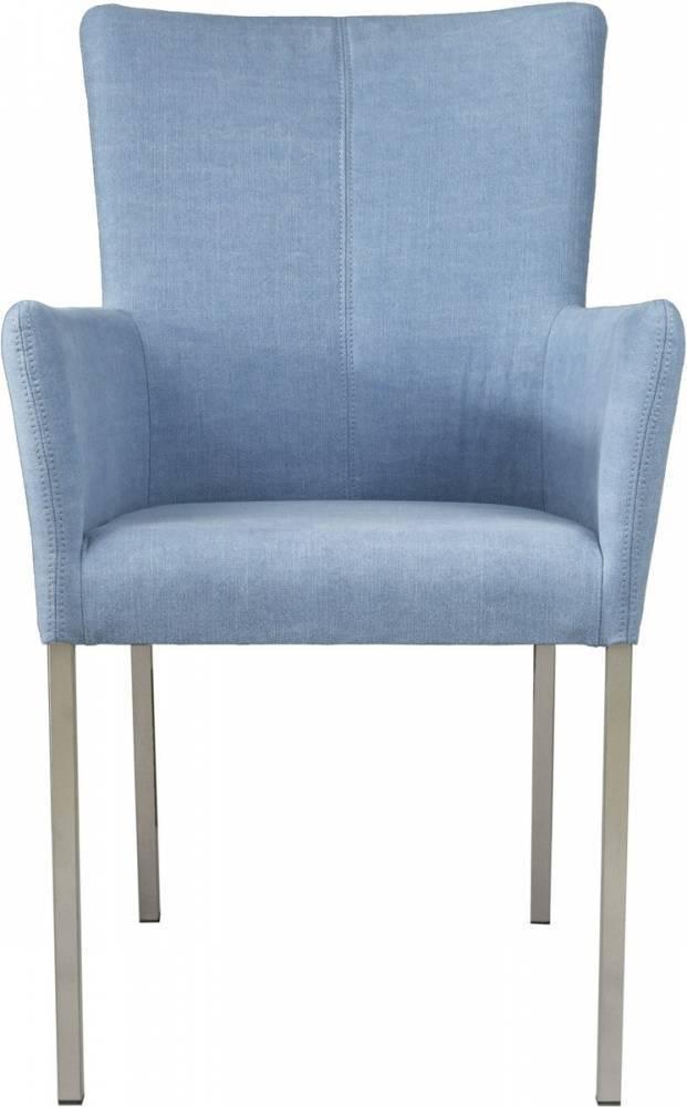 Jedálenská stolička TIVOLI - ľadová modrá
