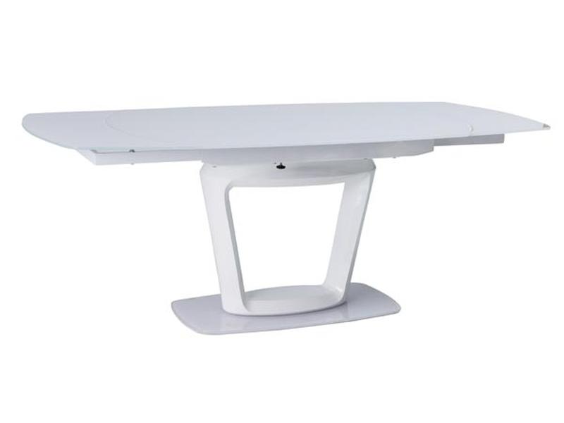 KLAUDIO jedálenský stôl, biely lesk