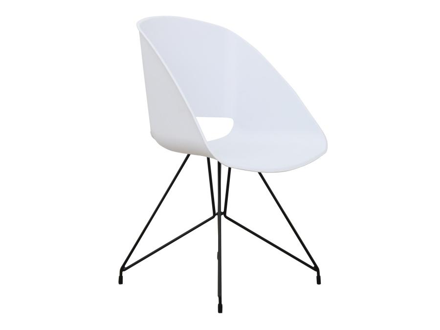 Jedálenská stolička Frame (biela)