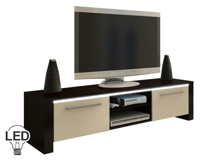 TV stolík/skrinka Helix (wenge + krém)