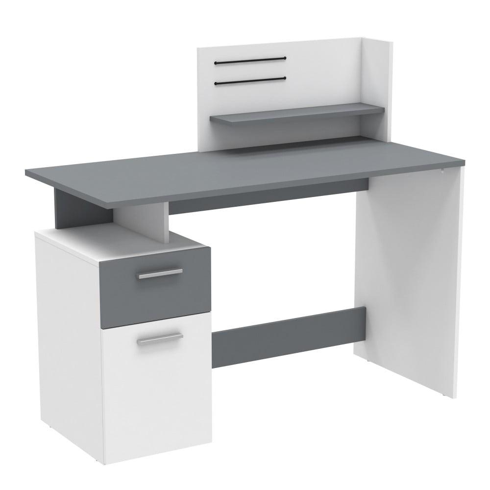 Bielo-sivý písací stôl Demeyere Platon