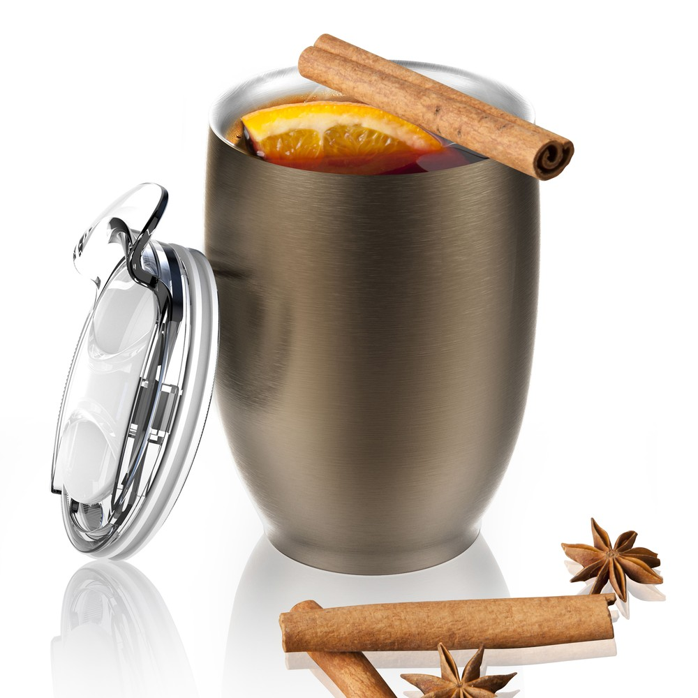 Hnedý termohrnček z antikoro ocele Imperial Beverage, 300 ml