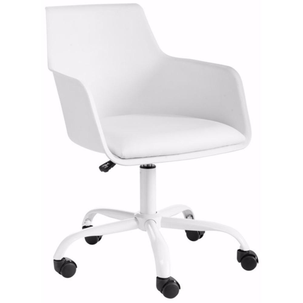 Biela nastaviteľná kancelárska stolička Støraa Leslie