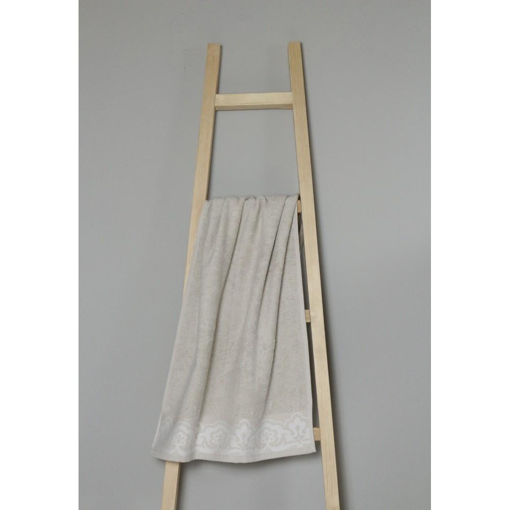 Béžový bavlnený uterák My Home Plus Spa, 50×100 cm