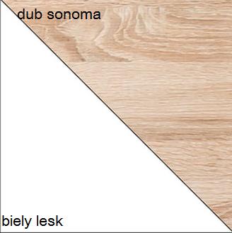 Jedálenský stôl CARMELO C11   Farba: Dub sonoma / biely lesk