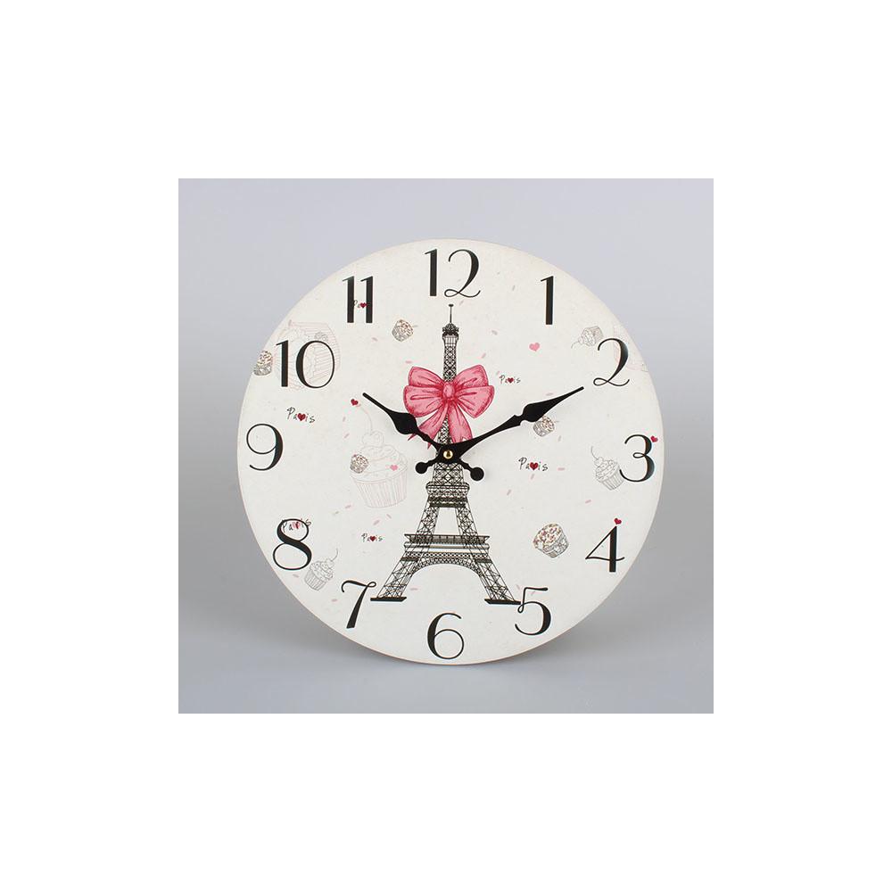 Nástenné drevené hodiny Dakls Paris