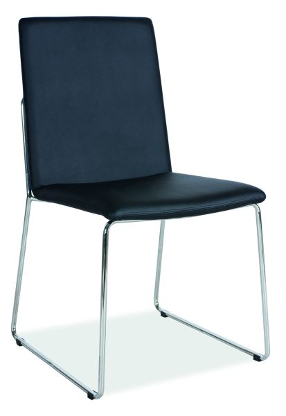 SIGNAL H-412 jedálenská stolička - chróm / čierna