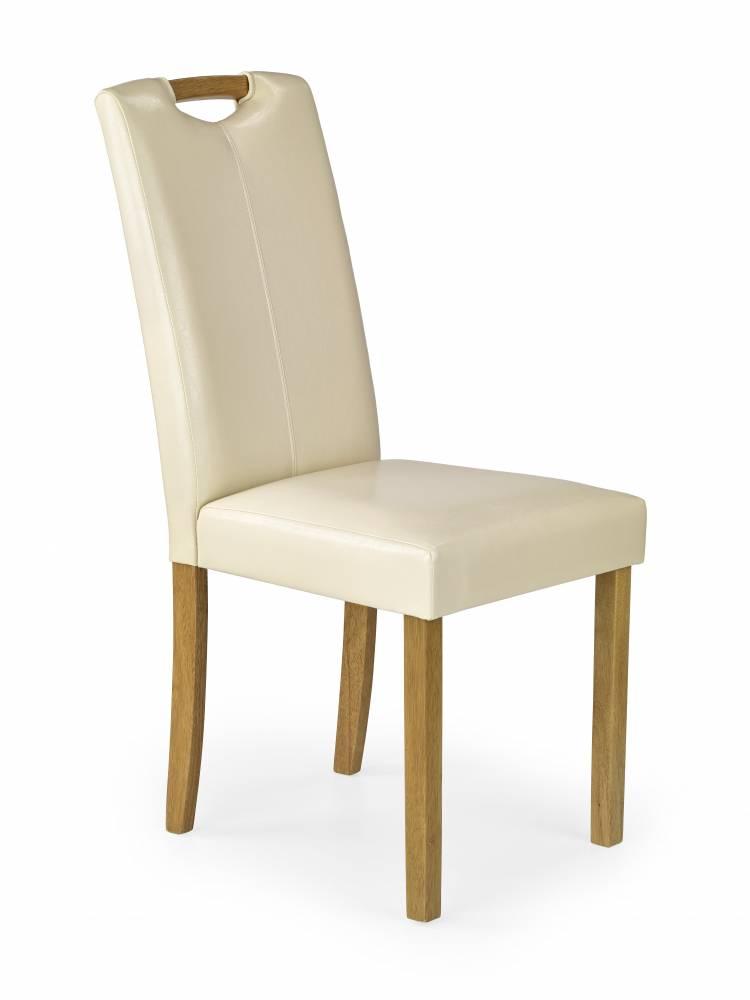 Jedálenská stolička Caro (buk + krémová)